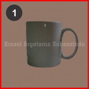 1 mug polos putih