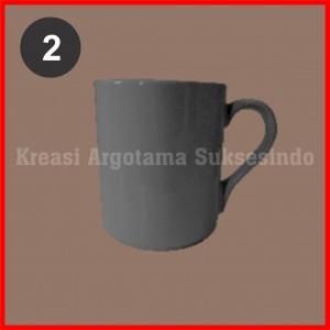 2 mug polos putih