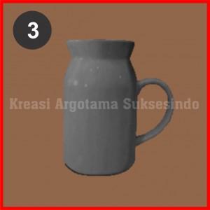 3 mug polos putih