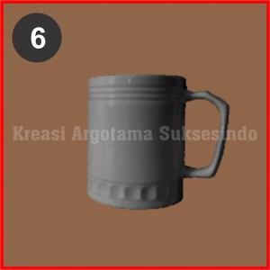 6 mug polos putih
