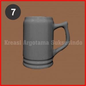 7 mug polos putih