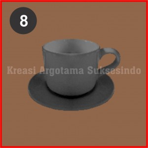 8 mug polos putih