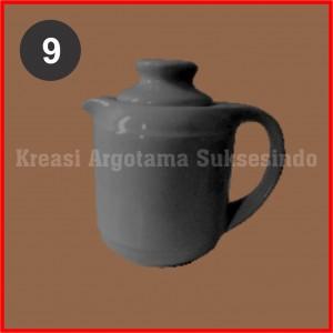 9 mug polos putih